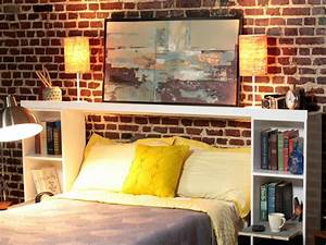 How to Make a Headboard Out of Storage Crates how-tos DIY