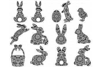 easter mandala svg bunny mandala svg rabbit mandala svg