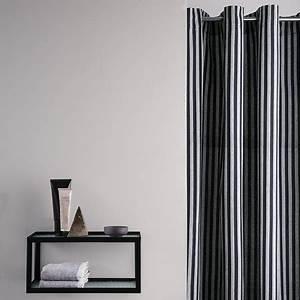 Duschvorhang Schwarz Weiß : ferm living chambray duschvorhang gestreift schwarz wei kaufen amara ~ Yasmunasinghe.com Haus und Dekorationen