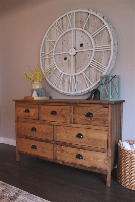 rustic  drawer dresser    home projects
