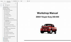 2006 Ford F250 F350 F450 F550 Repair Manual