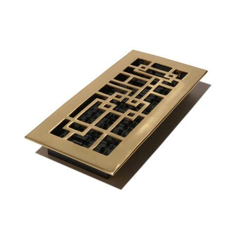 decor floor vents decor grates arts crafts solid brass floor register 8 pack atg stores
