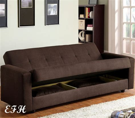 bed settee with storage jansen contemporary chocolate microfiber futon sofa bed w