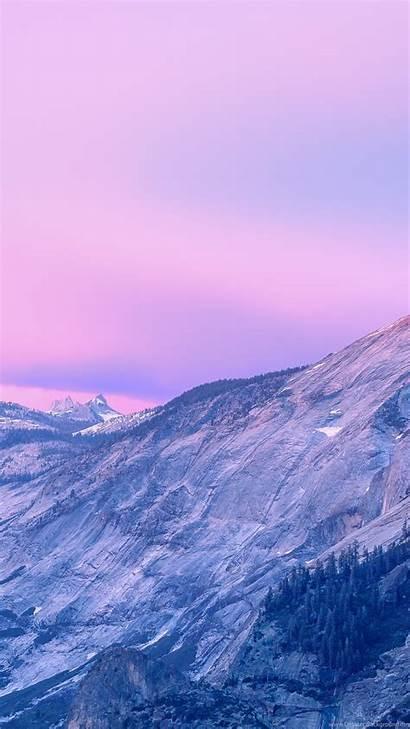 4k Apple Yosemite 5k Pink Mountains Mac