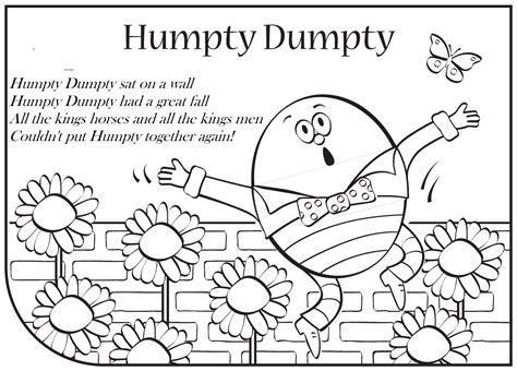 Humpty Dumpty Coloring Page Arenda Stroy