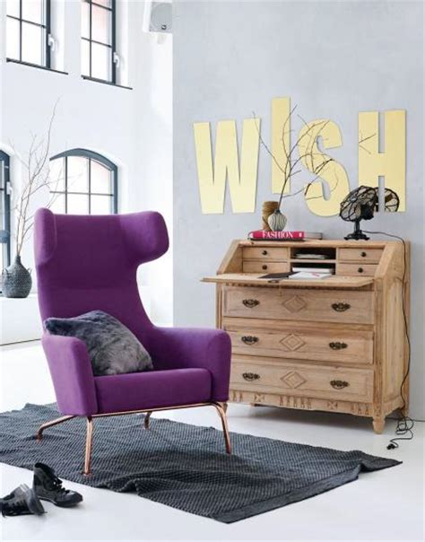 sessel retro look m 246 bel in lila violett living at home