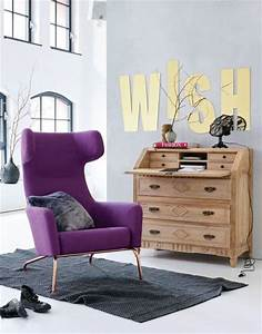 Sessel Retro Look : m bel in lila violett living at home ~ Orissabook.com Haus und Dekorationen