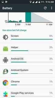 strange system app called helper eating battery
