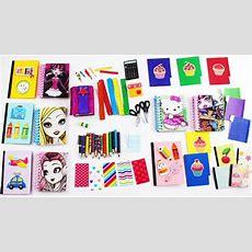 Útiles Escolares En Miniatura Para Muñecas, Cuadernos, Lapices, Tijeras, Etc  15 Manualidades