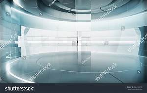 Futuristic Empty Stage Modern Future Background Stock ...