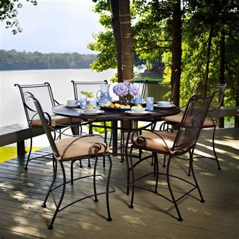meadowcraft monticello counter height patio dining set