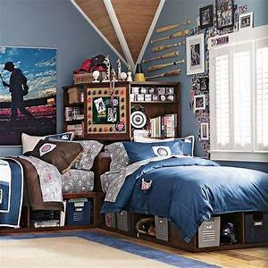 21 cool shared teen boy rooms decor ideas digsdigs With bedroom ideas for teenage guys 2