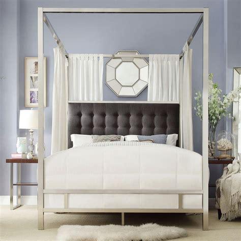 chrome canopy bed homesullivan taraval chrome canopy bed 40e739bq