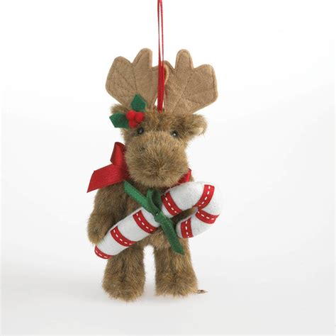 Boyds Bears Mooselmint Moose Candy Cane Plush Christmas