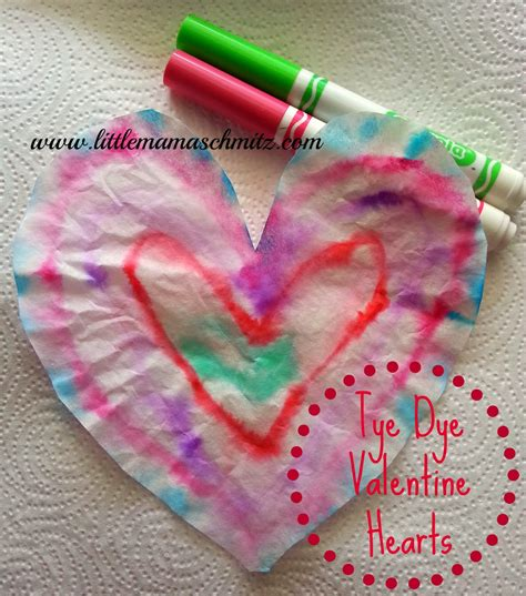 """Otherwise, they filter out too much of the dye. Little Mama: """"Tye Dye"""" Hearts"""