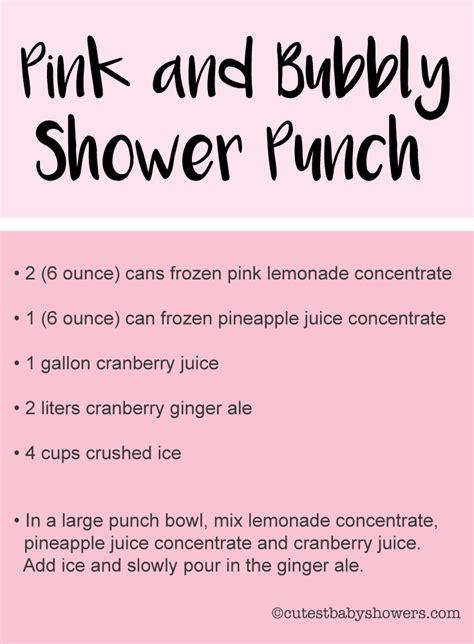 baby shower punch recipes cutestbabyshowerscom