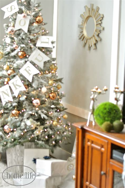 diy flocked christmas tree  home love life