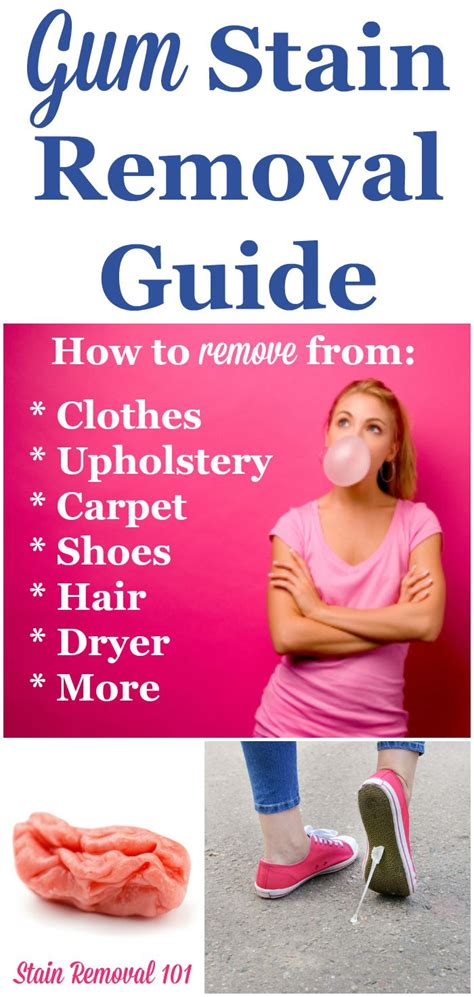 what gets gum out chewing gum stain removal guide