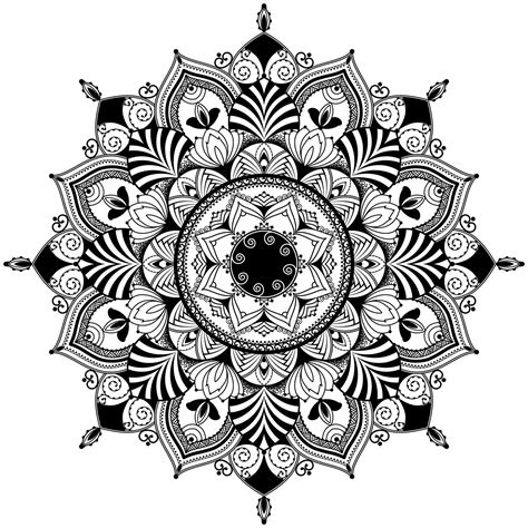 mandala zentagle inspired illustration black  white mandalas adult coloring pages