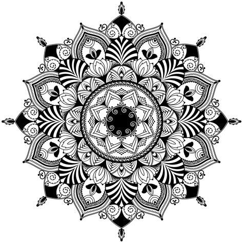 mandala zentagle inspired illustration black  white mandalas adult coloring pages
