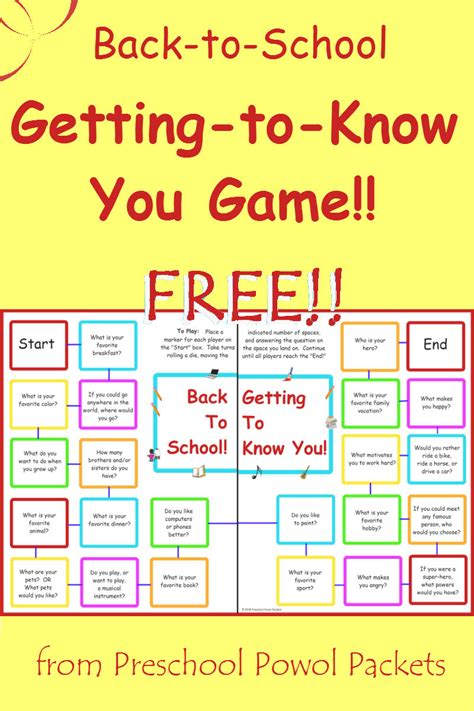 getting to know you preschool activities free back to school getting to you 808
