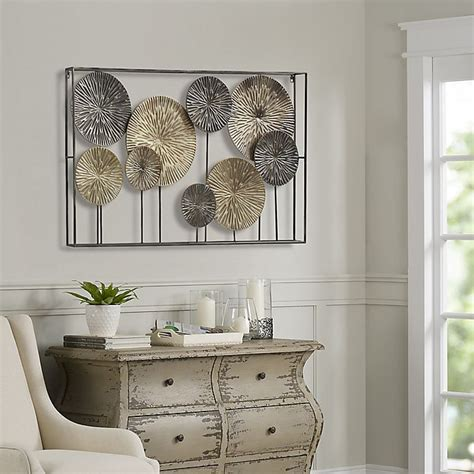 This wall was used in a rustic vacation cabin, but i can picture it as a feature wall in a modern home, surrounded by white walls and reclaimed wood! Art Metal Dandelions Wall Decor | Bed Bath and Beyond Canada