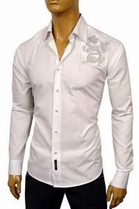 Mens Designer Clothes   VERSACE Men Fitted Dress Shirt #119