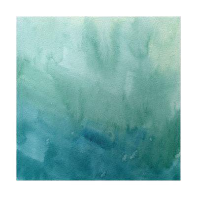 foto de Póster Dibujado a mano de color azul turquesa acuarela