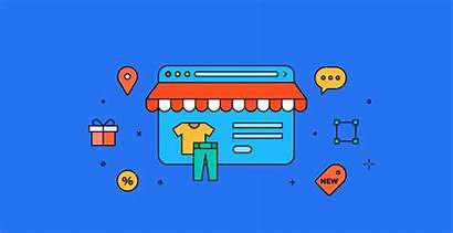 Ecommerce Commerce Selling Banners Animated Website Animation