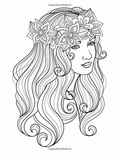 Coloring Pages Hard Face Hairstyle Baylee Jae