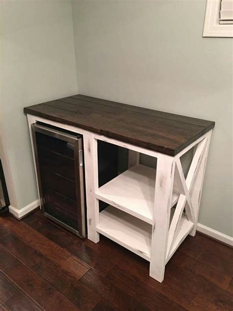 It's perfect for dorm rooms, guest rooms, rec rooms this coffee bar / mini fridge table i made (build vid in comments). Pin by Gabriela Jimenez on furniture second life   Diy home bar, Coffee bar home, Bars for home