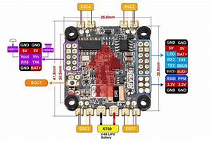Dys F4 Pro Flight Controller With Osd   Pdb