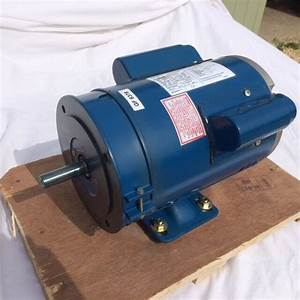 B56 5  8 U0026quot  Shaft  16mm   Single Phase Motor 0 75kw  1hp  1400rpm  Crompton Motor