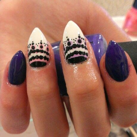 mountain peak shape  nails    nails