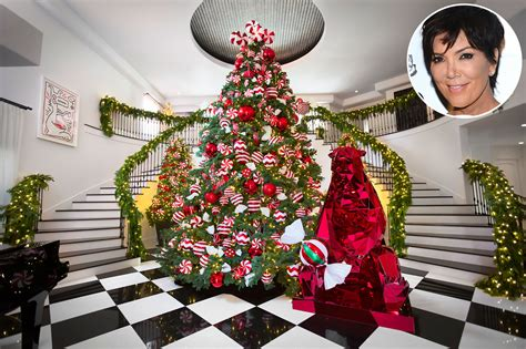Kris Jenner Shows Off Kandyland-chic Holiday Kitchen Work Islands L-shaped Layout Ideas With Island U Shaped Layouts White Wood Grain Cabinets Calgary Top Black Bottom Ikea Butcher Block Small Decorating On A Budget