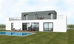 Maison Moderne Toit Plat : maison contemporaine toit plat mc immo ~ Nature-et-papiers.com Idées de Décoration