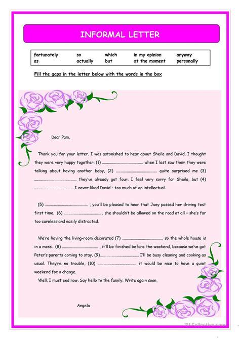 informal letter writing worksheets  grade