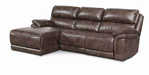 Monterey 3 piece power reclining sectional with left for Power reclining sectional sofa with chaise
