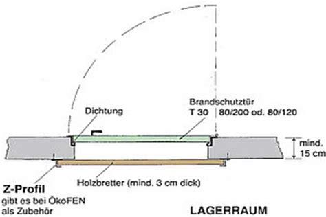 Bauanleitung Pelletlager, Schnitt, Türe, Schrägböden
