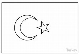 turkey flag coloring page | Coloring Page