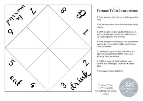 fortune teller template fortune teller diy