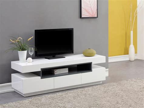 bureau angle blanc meuble tv muni d 39 une niche et de 3 tiroirs de rangement en