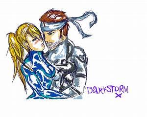 request- solid snake and samus by DarkStorm-X on DeviantArt