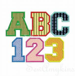 17 best images about embroidery fonts on pinterest for Varsity letter applique