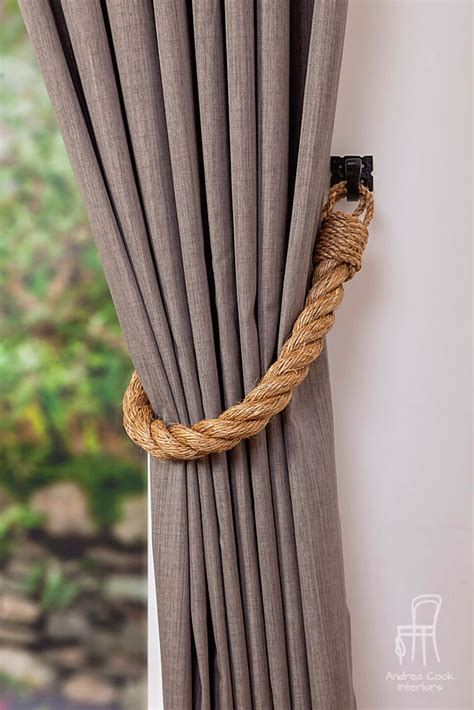 tiebacks for curtains thick manila rope curtain tiebacks chunky ties