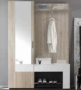 Garderobe Sonoma Eiche : top kompakt garderobe eiche sonoma weiss wandpaneel spiegel kleiderschrank ebay ~ Frokenaadalensverden.com Haus und Dekorationen