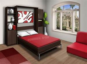 Promo Lit Escamotable Plafond Affordable Lit Bed Up Prix