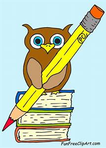 Owl Holding Pencil