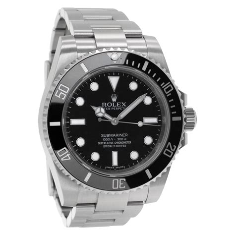 Pre-owned Rolex Submariner No Date 114060 Stainless Steel ...