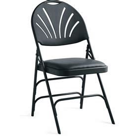 chairs folding chairs xl series steel fanback padded